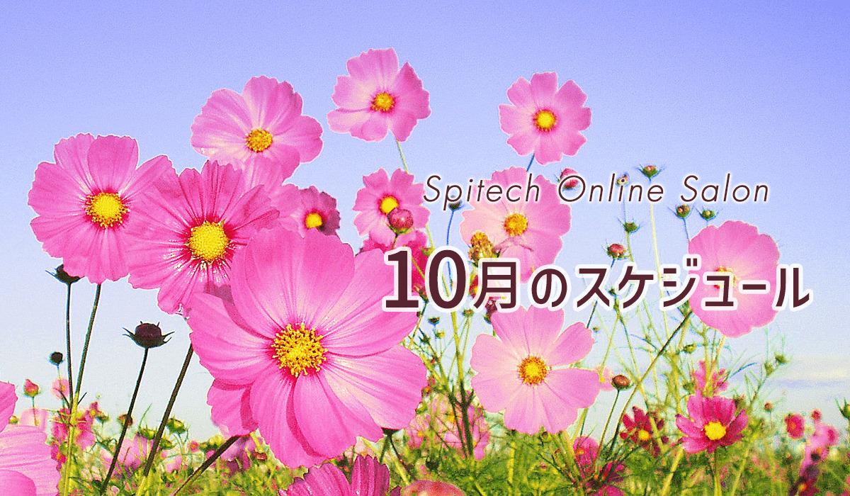 10月のスケジュール(全国イベント・オンラインサロン)